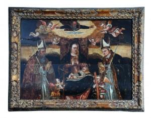 Slika - Ulje na drvetu, kraj 17. veka,  dimenzije: 99 x 80 cm(sa ramom)