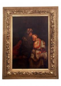 Kralj Juda i Tamara,stari zavet   Holandija, početak 18. veka Dimenzije: 140 x 95 cm(bez rama)