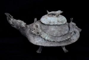 Kornjača čajnik Kina, rani Ming, 14. Vek