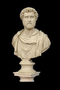 Rimski Imperator Mermer, Italija,18. vek Visina: 91 cm